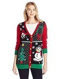 Ugly Christmas Sweater Co. Women's Button-Front Christmas Cardigan