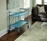 Cosco Indoor / Outdoor Folding, Metal, Rolling Serving Cart