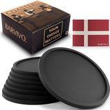 Barvivo Soft Silicone Coasters Set of 8
