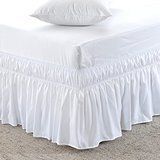 MeiLa Three Fabric Wrap Around Elastic Solid Bed Skirt