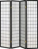 Coaster Home Furnishings Oriental Style 4-Panel Room Screen Divider