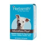 Herbsmith Microflora Plus for Digestion Capsules Daily Dog & Cat Supplement