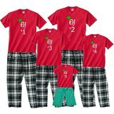 Footsteps Clothing Santa's Elf Matching Adult PJs and Kids' Playwear