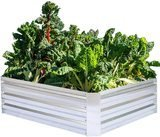 FOYUEE Galvanized Raised Garden Bed
