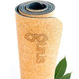 Gurus Cork Yoga Mat with Natural Rubber Bottom
