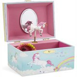 JewelKeeper Musical Jewelry Storage Box with Spinning Unicorn