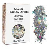 Karizma Silver Holographic Chunky Glitter