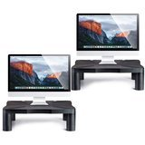 Halter 2-Pack Height Adjustable Monitor Stands