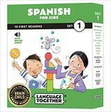Spanish for Kids 10 First Reader Books with Online Audio and English, Set 1