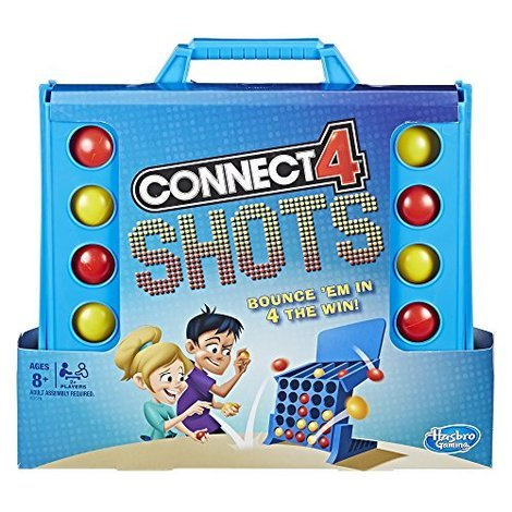 Connect 4 in Row Game Board Big Size 10 inches with Connect 4 Travel Size 3 inches and Free Travel Pouch